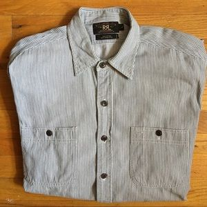 RRL Polo Ralph Lauren hickory stripe shirt